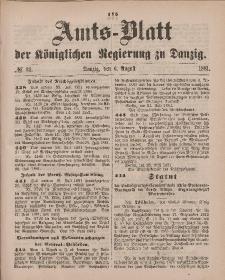 Amts-Blatt der Königlichen Regierung zu Danzig, 6. August 1881, Nr. 32