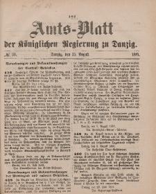 Amts-Blatt der Königlichen Regierung zu Danzig, 13. August 1881, Nr. 33