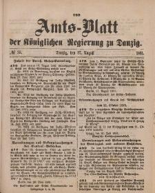 Amts-Blatt der Königlichen Regierung zu Danzig, 27. August 1881, Nr. 35