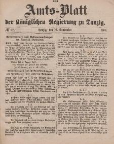 Amts-Blatt der Königlichen Regierung zu Danzig, 10. September 1881, Nr. 37