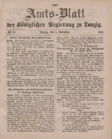 Amts-Blatt der Königlichen Regierung zu Danzig, 5. November 1881, Nr. 45