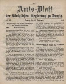 Amts-Blatt der Königlichen Regierung zu Danzig, 19. November 1881, Nr. 47