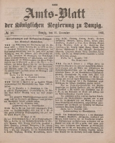 Amts-Blatt der Königlichen Regierung zu Danzig, 17. Dezember 1881, Nr. 51