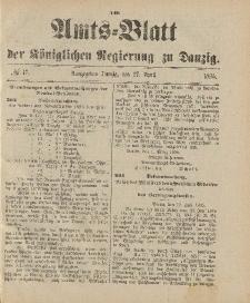 Amts-Blatt der Königlichen Regierung zu Danzig, 27. April 1895, Nr. 17