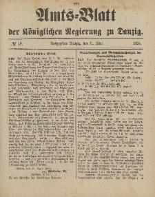 Amts-Blatt der Königlichen Regierung zu Danzig, 11. Mai 1895, Nr. 19