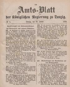 Amts-Blatt der Königlichen Regierung zu Danzig, 28. Januar 1882, Nr. 4