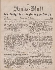 Amts-Blatt der Königlichen Regierung zu Danzig, 18. Februar 1882, Nr. 7