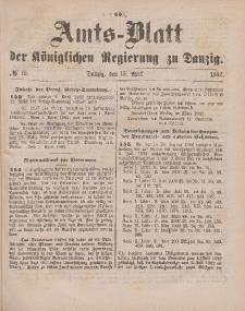 Amts-Blatt der Königlichen Regierung zu Danzig, 15. April 1882, Nr. 15