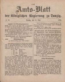 Amts-Blatt der Königlichen Regierung zu Danzig, 13. Mai 1882, Nr. 19