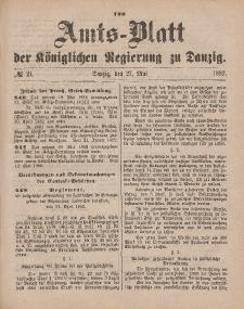 Amts-Blatt der Königlichen Regierung zu Danzig, 27. Mai 1882, Nr. 21