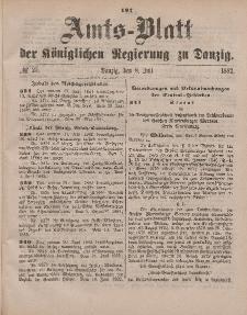 Amts-Blatt der Königlichen Regierung zu Danzig, 8. Juli 1882, Nr. 27