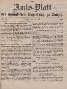 Amts-Blatt der Königlichen Regierung zu Danzig, 15. Juli 1882, Nr. 28
