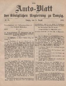 Amts-Blatt der Königlichen Regierung zu Danzig, 19. August 1882, Nr. 33