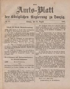 Amts-Blatt der Königlichen Regierung zu Danzig, 26. August 1882, Nr. 34
