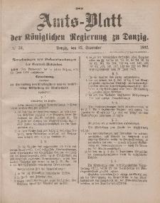 Amts-Blatt der Königlichen Regierung zu Danzig, 23. September 1882, Nr. 38
