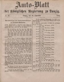 Amts-Blatt der Königlichen Regierung zu Danzig, 30. September 1882, Nr. 39
