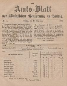 Amts-Blatt der Königlichen Regierung zu Danzig, 18. November 1882, Nr. 46