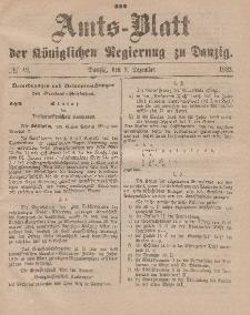 Amts-Blatt der Königlichen Regierung zu Danzig, 9. Dezember 1882, Nr. 49