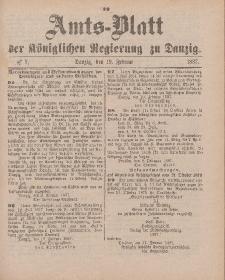Amts-Blatt der Königlichen Regierung zu Danzig, 19. Februar 1887, Nr. 7