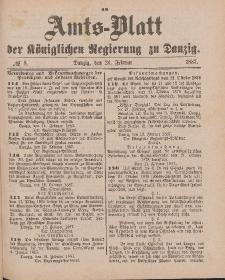 Amts-Blatt der Königlichen Regierung zu Danzig, 26. Februar 1887, Nr. 8