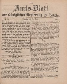 Amts-Blatt der Königlichen Regierung zu Danzig, 19. März 1887, Nr. 11