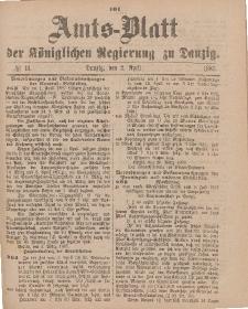 Amts-Blatt der Königlichen Regierung zu Danzig, 2. April 1887, Nr. 13