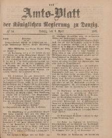 Amts-Blatt der Königlichen Regierung zu Danzig, 9. April 1887, Nr. 14