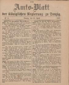 Amts-Blatt der Königlichen Regierung zu Danzig, 16. April 1887, Nr. 15