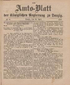Amts-Blatt der Königlichen Regierung zu Danzig, 23. April 1887, Nr. 16