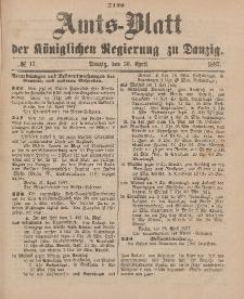 Amts-Blatt der Königlichen Regierung zu Danzig, 30. April 1887, Nr. 17