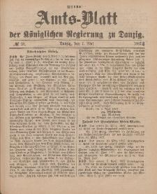 Amts-Blatt der Königlichen Regierung zu Danzig, 7. Mai 1887, Nr. 18