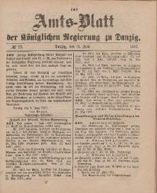 Amts-Blatt der Königlichen Regierung zu Danzig, 11. Juni 1887, Nr. 23
