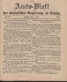 Amts-Blatt der Königlichen Regierung zu Danzig, 2. Juli 1887, Nr. 26