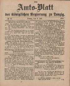 Amts-Blatt der Königlichen Regierung zu Danzig, 9. Juli 1887, Nr. 27