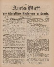 Amts-Blatt der Königlichen Regierung zu Danzig, 23. Juli 1887, Nr. 29