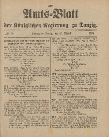 Amts-Blatt der Königlichen Regierung zu Danzig, 10. August 1895, Nr. 32