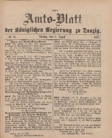 Amts-Blatt der Königlichen Regierung zu Danzig, 6. August 1887, Nr. 31