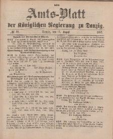 Amts-Blatt der Königlichen Regierung zu Danzig, 13. August 1887, Nr. 32
