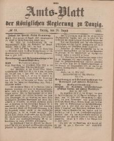 Amts-Blatt der Königlichen Regierung zu Danzig, 20. August 1887, Nr. 33
