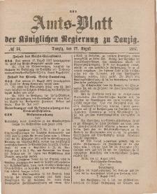 Amts-Blatt der Königlichen Regierung zu Danzig, 27. August 1887, Nr. 34