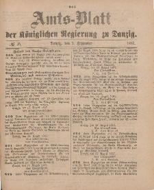 Amts-Blatt der Königlichen Regierung zu Danzig, 3. September 1887, Nr. 35