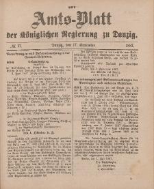 Amts-Blatt der Königlichen Regierung zu Danzig, 17. September 1887, Nr. 37