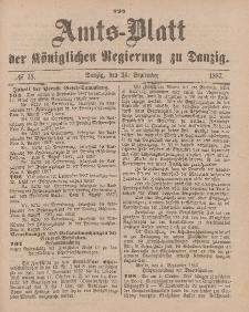 Amts-Blatt der Königlichen Regierung zu Danzig, 24. September 1887, Nr. 38