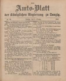 Amts-Blatt der Königlichen Regierung zu Danzig, 1. Oktober 1887, Nr. 39