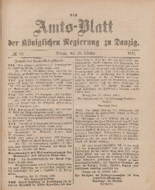 Amts-Blatt der Königlichen Regierung zu Danzig, 22. Oktober 1887, Nr. 42