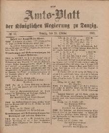 Amts-Blatt der Königlichen Regierung zu Danzig, 29. Oktober 1887, Nr. 43