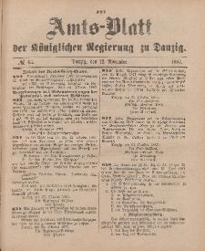 Amts-Blatt der Königlichen Regierung zu Danzig, 12. November 1887, Nr. 45