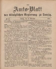 Amts-Blatt der Königlichen Regierung zu Danzig, 19. November 1887, Nr. 46