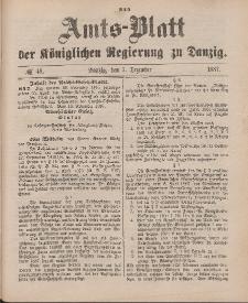 Amts-Blatt der Königlichen Regierung zu Danzig, 3. Dezember 1887, Nr. 48