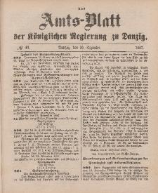 Amts-Blatt der Königlichen Regierung zu Danzig, 10. Dezember 1887, Nr. 49